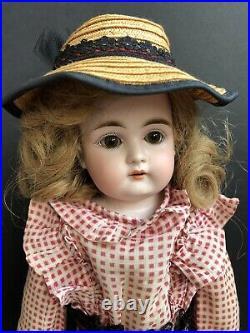 Antique German 16 Kestner Alphabet a Bisque Shoulder Head Doll