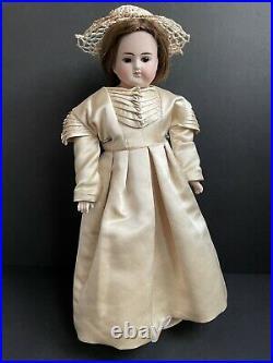 Antique German 17 ABG Alt, Beck and Gottschalk 698 Closed Mouth Bisque Doll