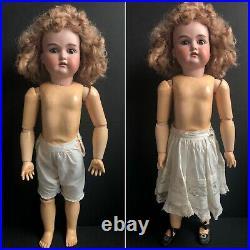 Antique German 26 Armand Marseille Bisque Head Doll Pierced Ears