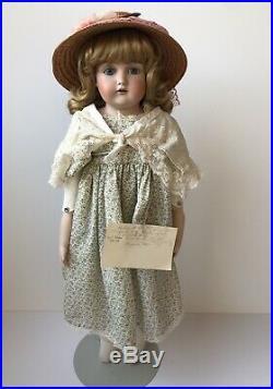 Antique German 27 Kestner 166 13 Bisque Shoulder Head Doll