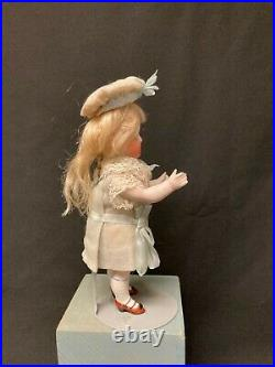 Antique German All Bisque Doll, 7 1/2 Inches Tall