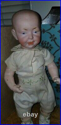 Antique German Bisque 159-1 Character Child Composition Body Kaiser Type Doll