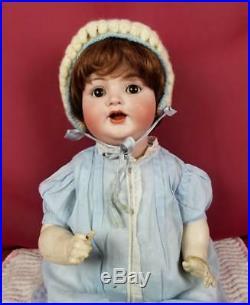 Antique German Bisque Baby Doll K star R Kammer Reinhardt 126 Life Size 18 CUTE