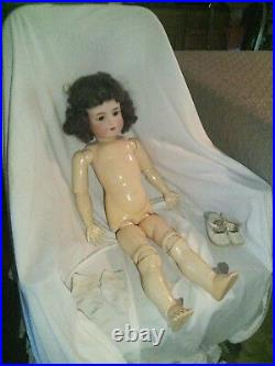 Antique German Bisque Doll (28 inches)