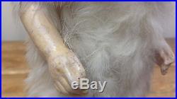 Antique German Bisque Doll Baby Blue Eyes Teeth Snowbaby Falk Fur Costume RARE