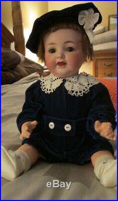 Antique German Bisque Doll Kr Simon & Halbig #126 20 Inch