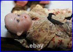 Antique German Bisque George & Martha Washington Doll