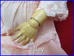 Antique German Bisque Head 24 Queen Louise Doll Composition Body