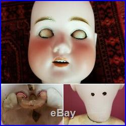 Antique German Bisque Head Doll Pansy IV Blue Sleep Eyes 23 Very Pretty Doll