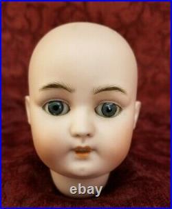 Antique German Bisque Socket Doll Head Simon Halbig DEP 1079 Blue Sleep Eyes