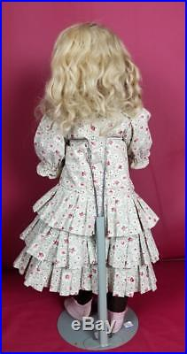 Antique German Bisque Socket Head Doll By JDK 249 Marked Body Antique Wig 20