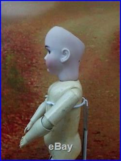 Antique German Bisque Socket Head Doll Handwerck 99 DEP Brown Set Eyes 25 NICE