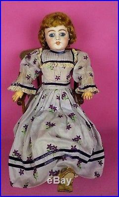 Antique German Bisque Socket Head Doll Simon Halbig 1009 Gorgeous 24 REDUCED