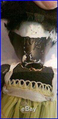 Antique German Black Bisque Doll Recknagel 1909 Dep R14/ A 6 3/4