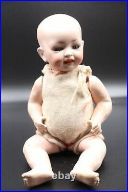 Antique German Character Doll Baby 151 Hertel Schwab Bisque Head Sleep Eyes