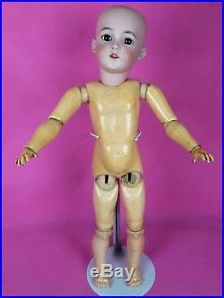 Antique German Child LG Doll Simon Halbig SANTA 1249 Brown Eyes Blonde Wig 29 in