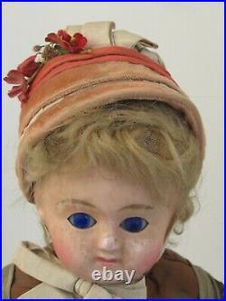 Antique German Doll Wax over Composition Glass Sleep Eye's