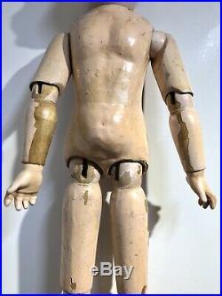 Antique German Heinrich Handwerck 109-11 Bisque Head 21 Doll Wood Body