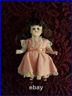 Antique German Kestner 149 Miniature All Bisque Doll 5 Pink Socks Cute