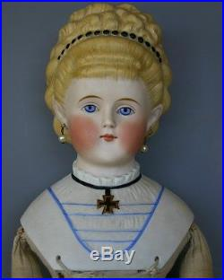Antique German Parian Doll'empress Augusta