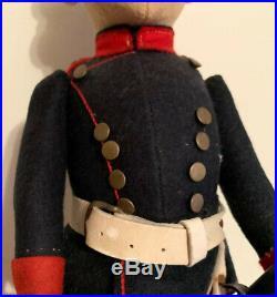 Antique German, STEIFF Military uniformed Soldier with Metal Sword