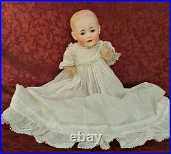 Antique German Solid Dome Bisque Head Baby Doll J. D. K. Kestner Glass Blue Eyes