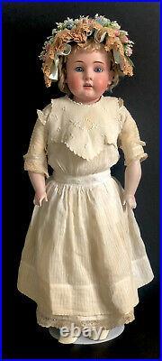 Antique Germany Kestner 30 Doll Bisque Head Kid Leather Body Marked Dept 154 6