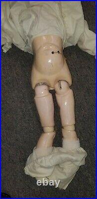 Antique Heinrich Handwerck 109 German Bisque Composition Doll 24 Talker
