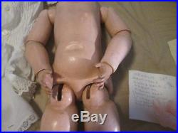 Antique Heinrich Handwerck-simon Halbig Bisque 25 Doll Sleep Eyes Excellent