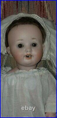 Antique Hermann Steiner Bisque Head Character Baby Doll 11