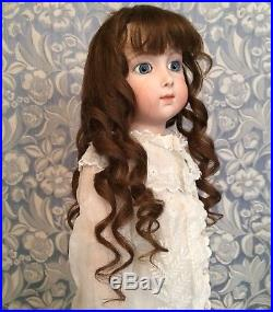 Antique Jumeau Brown Human Hair Doll Wig 4 French or German Bisque 10.25 -11 HC