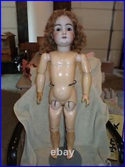 Antique Kestner 146 Bisque Head Doll 28 On Original Excelsior Body