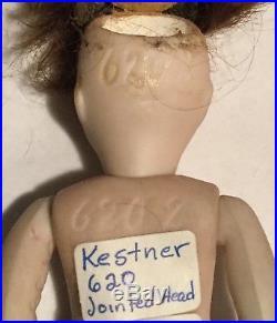 Antique Kestner 620 All Bisque Doll 4 1/2 Swivel Neck
