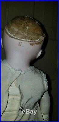 Antique Kestner G Alphabet Series Bisque Head Doll Kid Body Turned Head