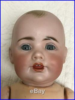 Antique Kestner Jdk German Character Doll 14 Original Booties