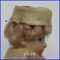 Antique Mignonette Gebruder Kuhnlenz German 5.5Bisque Swivel Head Paper Mache