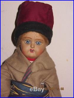 Antique RUSSIAN BISQUE DOLL Boy Soviet Union USSR CCCP German KR 11.5 1930s