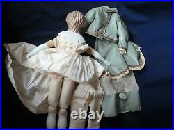 Antique Rare 20 Spill Curl China Doll 1870 Unusual Brown Hair Nice