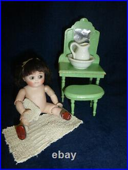 Antique Rare 5 All Bisque Googly Kestner 111 Jointed Elbows-Knees