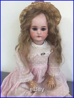 Antique Simon & Halbig 1079 Doll Very Large Eyes Antique Wig