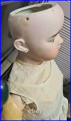 Antique Simon & Halbig #1079 Very Large 37 Germany Antique Bisque Head Doll