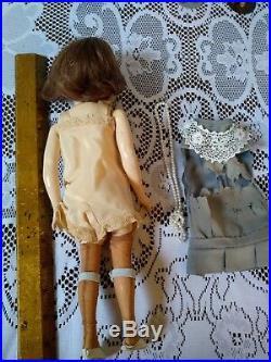 Antique Simon Halbig 1159 Bisque Doll 12 Flapper Body cabinet size