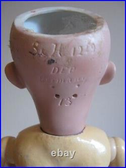 Antique Simon Halbig 1249 SANTA Bisque Doll 27 Blue Working Eyes, HH Wig, GORG
