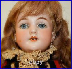 Antique Simon & Halbig 16 Santa Bisque 1249 Doll with Ball Joint Body Germany
