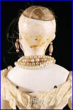 Antique Simon & Halbig German Fashion Doll 17 Empress Eugenie French Mkt 1875