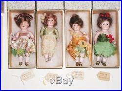 Antique Stella Webster Birthday Dolls 12 German 6 BISQUE FLOWERS OF MONTH