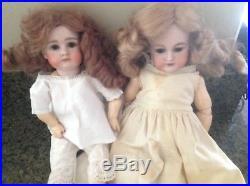 Antique german Simon Heinrich Halbig 12 and 14 inch dolls original clothes. Two