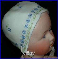 Baby Stuart Gebruder Heubach Molded Decorated Hat Orig Body Finish 10