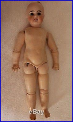 Bahr and Proschild 204 Antique German Doll, 17 IN, Straight Wrists, Antique Doll