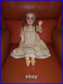 Beautiful 1890s Antique Bisque Head Kestner Excelsior 25 Doll